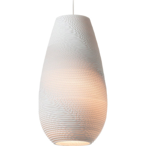 "Graypants Scraplight Drop 18 Pendant Light | White 10.0"" Diameter GP-1211-UL"