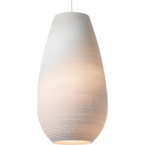 "Graypants Scraplight Drop 26 Pendant Light | White 14.5"" Diameter GP-1221-UL"