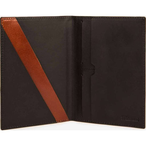 Miansai Modern Passport Wallet | Textured Black/Gray 108-0007
