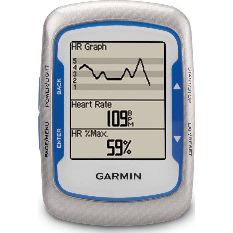 Garmin Edge 500 GPS Bike Computer Bundle HRM+Speed/Cadence | Blue/Silver