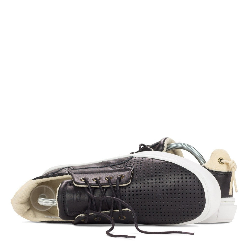 Clear Weather Eighty Low Top Shoes | Black Leather Perforated CRW-80-BLP
