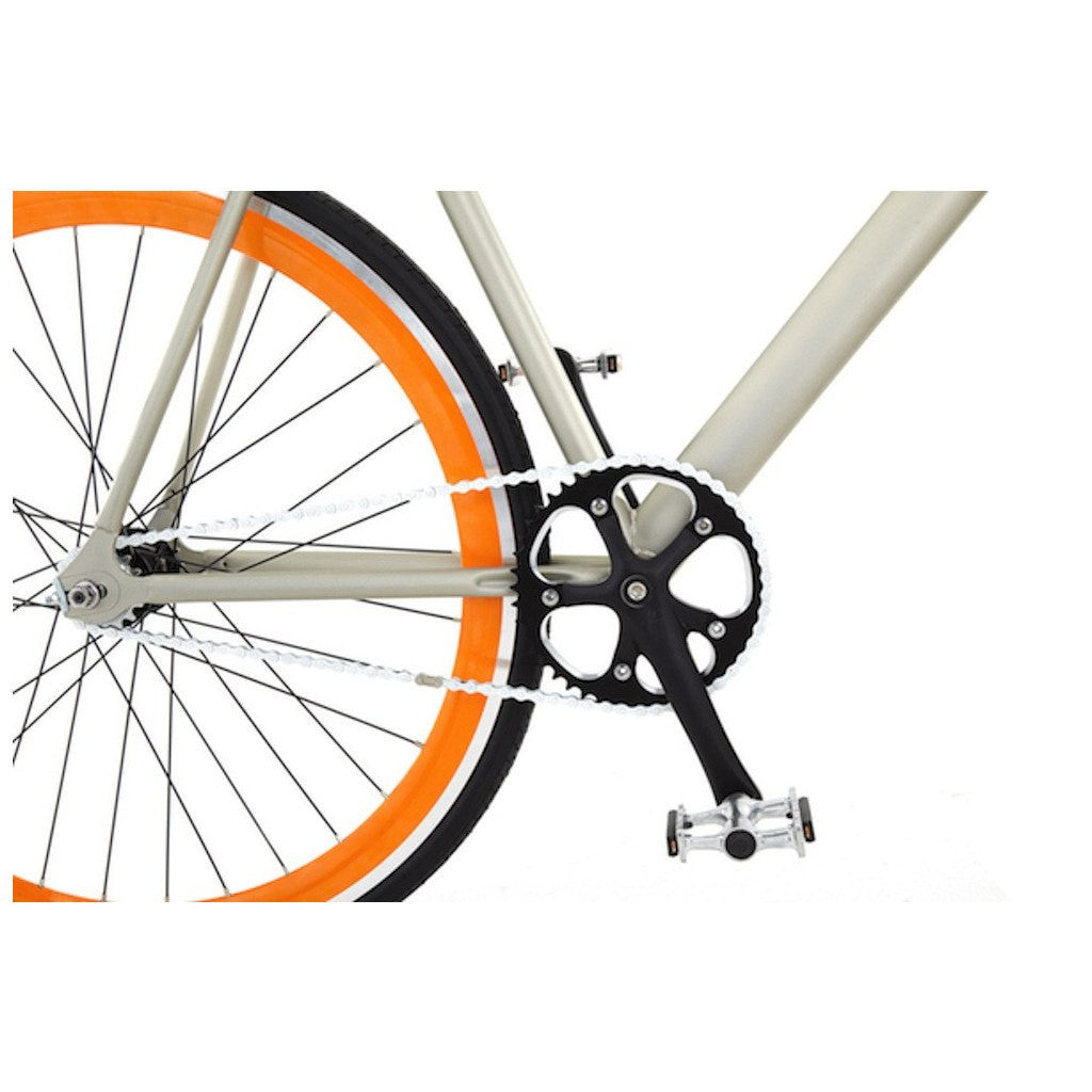 Sole Bicycles El Tigre Fixed Single Speed Bike | Matte Grey Frame/Orange Rims Sole 041-59