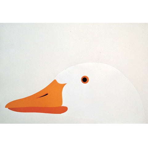 Enzo Mari: L'oca | The Head of White Goose Poster