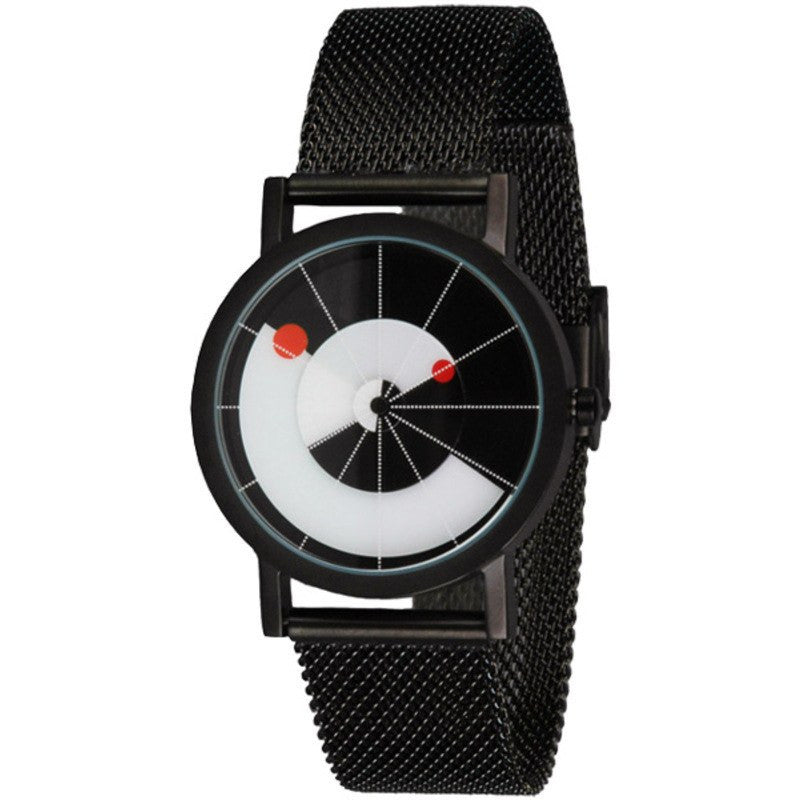 Projects Watches Daniel Will-Harris Equilibrium Watch | Black Metal Mesh