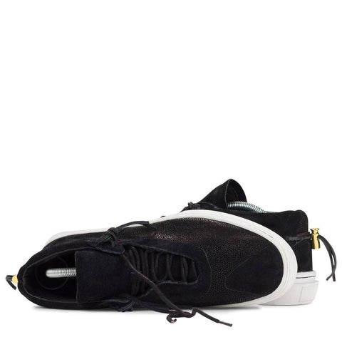 Clear Weather Everest Mid Top Shoes | Black Stingray Suede CRW-002-BST