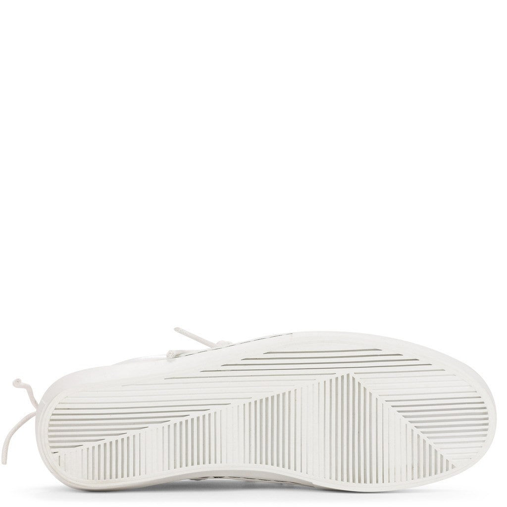 Clear Weather Everest Mid Top Shoes | White Leather CRW-002-WHT