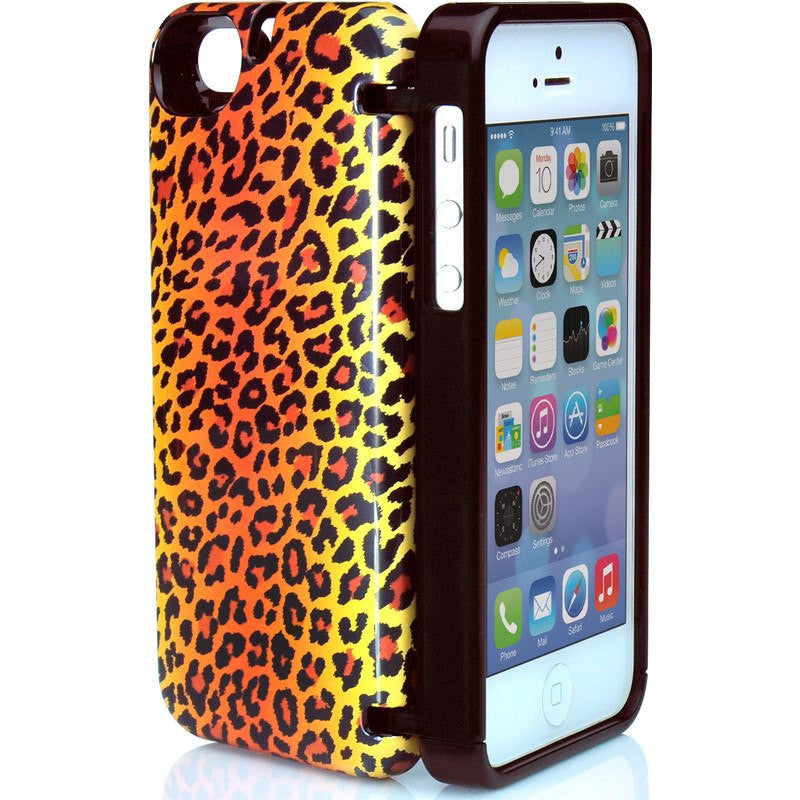 EYN iPhone 5/5s Wallet Case | Leopard