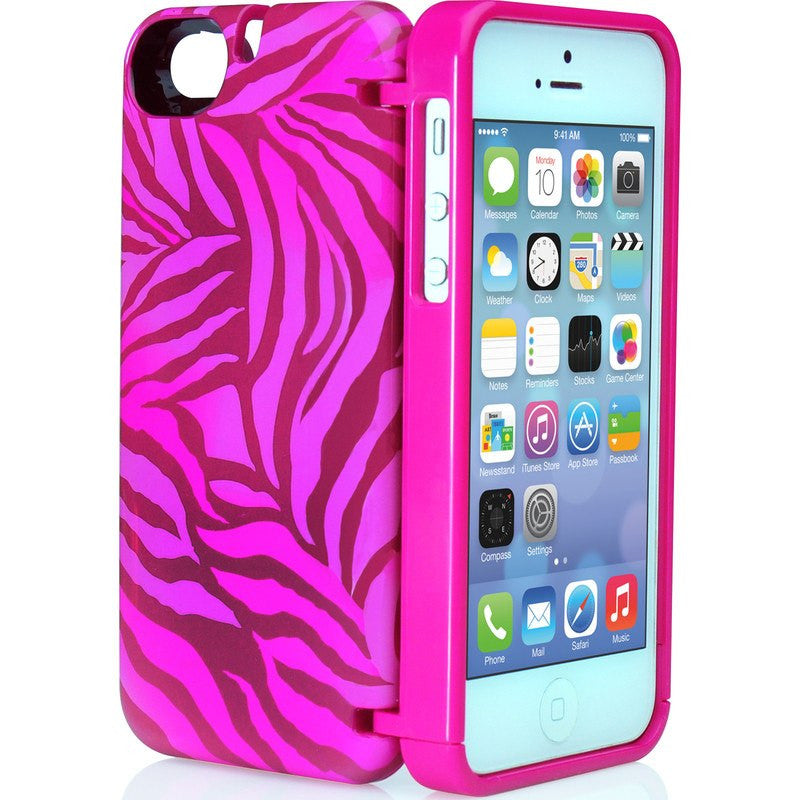 EYN iPhone 5/5s Wallet Case | Zebra