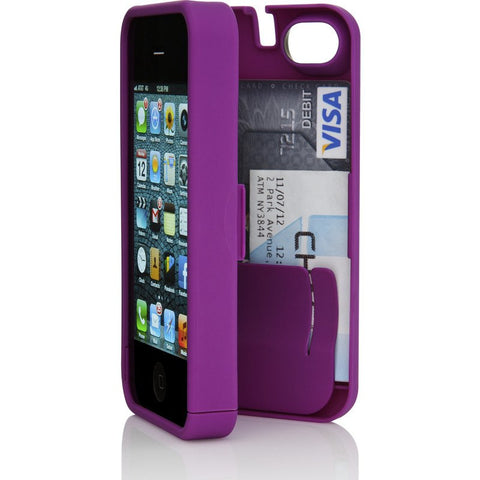 EYN iPhone 4/4s Wallet Case | Purple