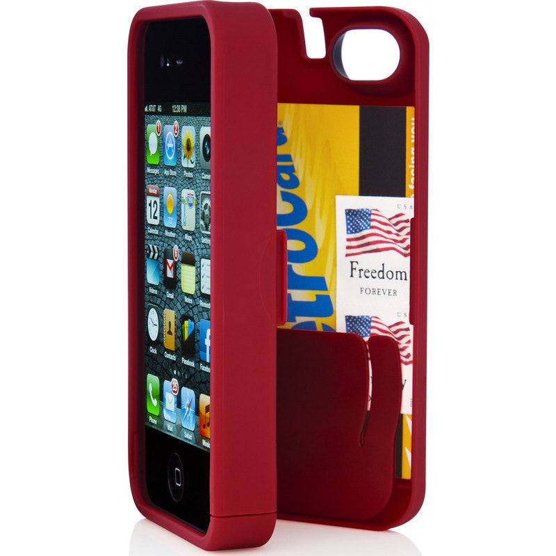 EYN iPhone 4/4s Wallet Case | Red