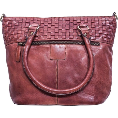 Kiko Leather Weaved Purse | Brown