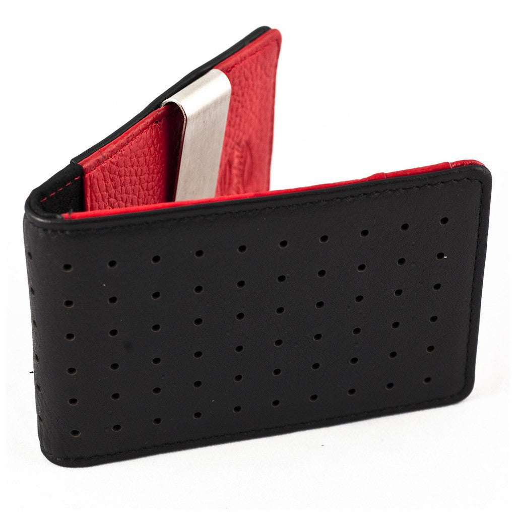 Orchill Concord Bi-Fold Money Clip Wallet | Black/Red