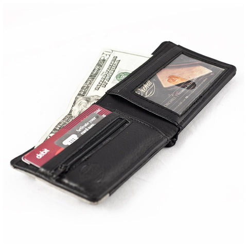 Orchill Francis Bi-Fold Leather Wallet | Black