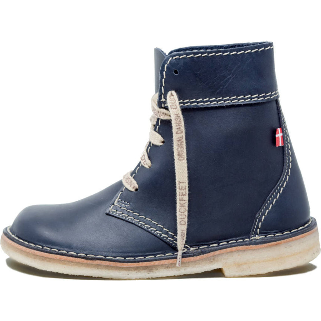 Duckfeet Leather Faborg Boots in Blue