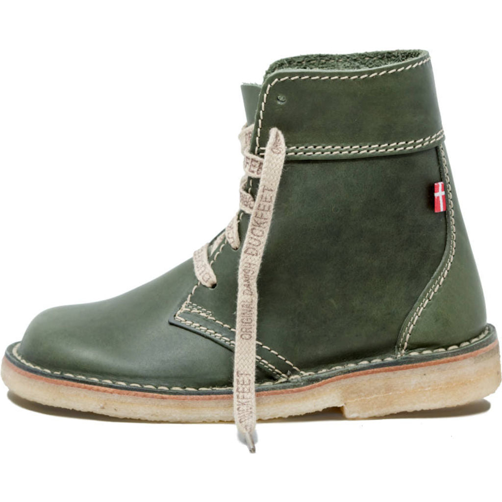Duckfeet Leather Faborg Boots in Green