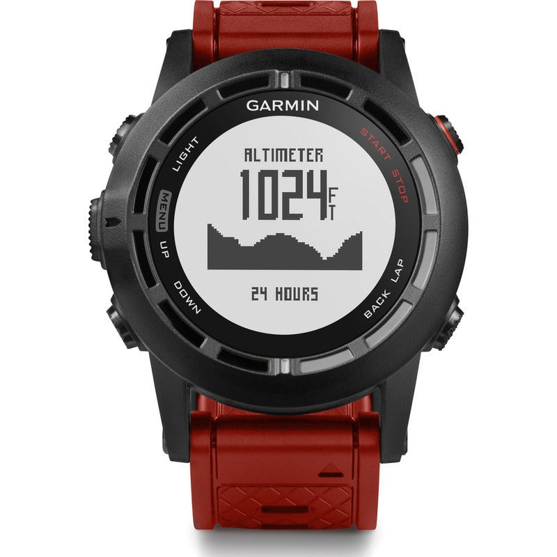 Garmin Fenix 2 Multi Sport Watch Special Edition Bundle | Red
