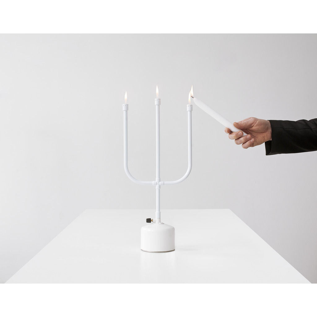 Droog Flames Gas Powered Light | White DD-278 00