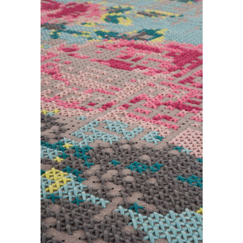 Gan Canevas Flowers Naturales Rug | Dark Gray 02CN21202CL76