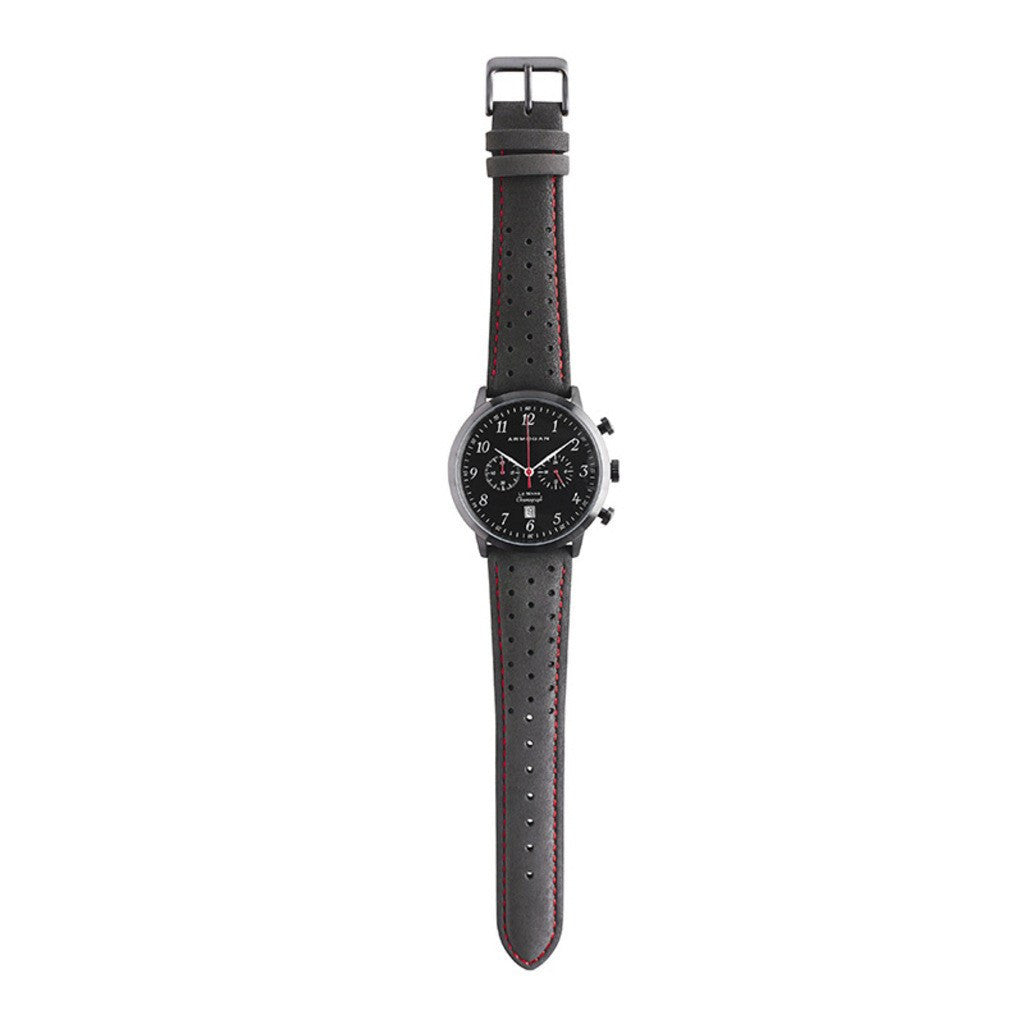 Armogan Le Mans Chronograph Watch | Midnight Black/Red LMB22N7R2