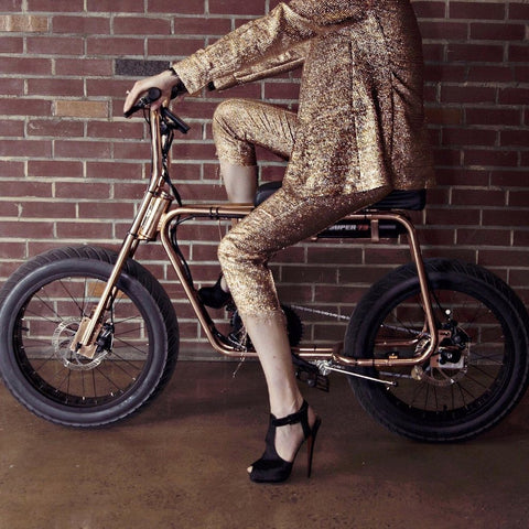 Lithium Cycles American Made Super 73 Electric Motorbike | Rose Gold/Copper Plated LCS73CPP