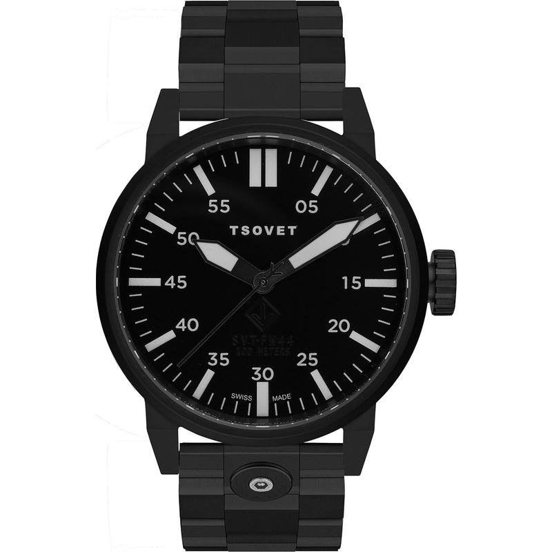 Tsovet SVT-FW44 Matte Black Watch | Black Steel FW331003-02M