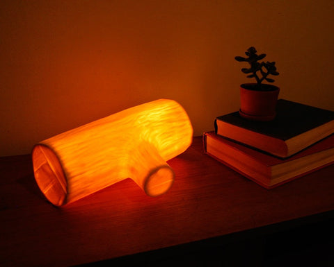 Michiko Shimada Glowing Log Lamp | White
