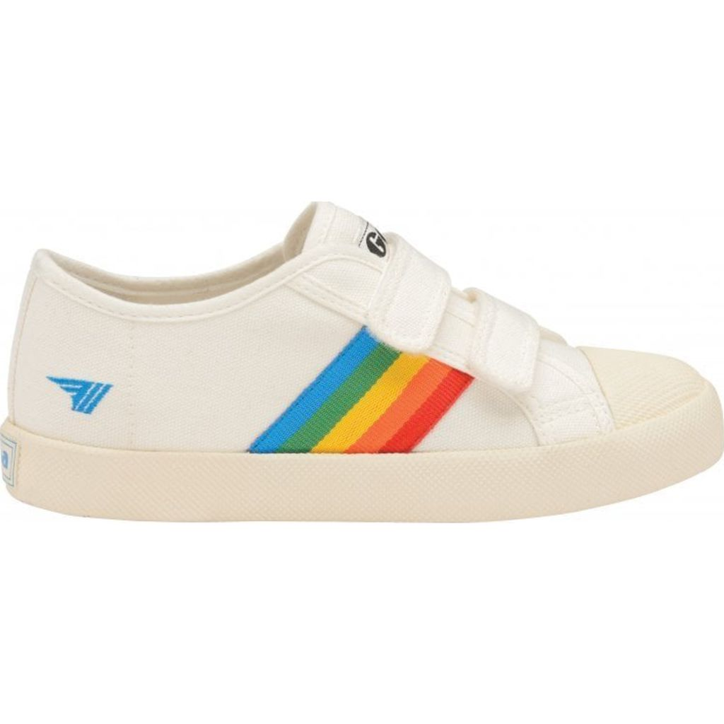 Gola Kids Coaster Rainbow Velcro Sneakers | Off White/Multi- CKA976