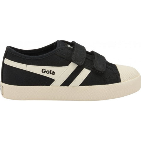 Gola Kids Coaster Velcro Sneakers | Off White/Navy/Red- CKA478