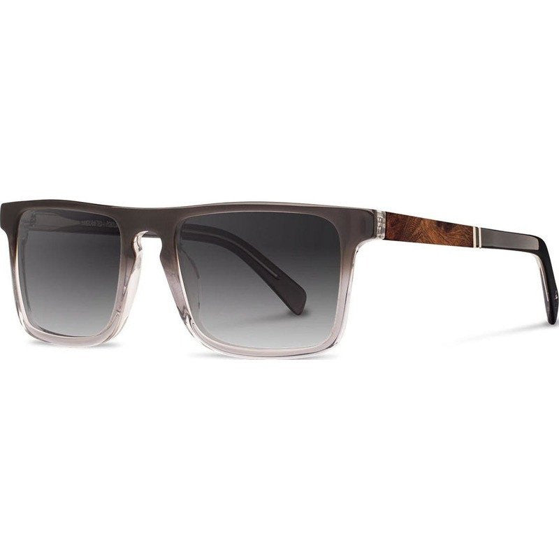 Shwood Govy 2 Acetate Sunglasses | Fog & Elm Burl / Grey Fade Polarized