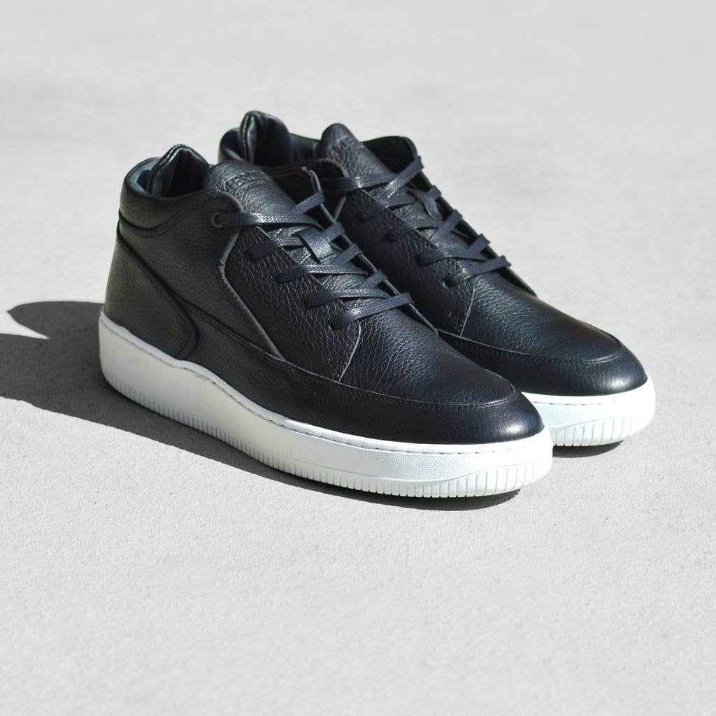 Mercer Amsterdam Grand Leather Mid Top Shoes | Black