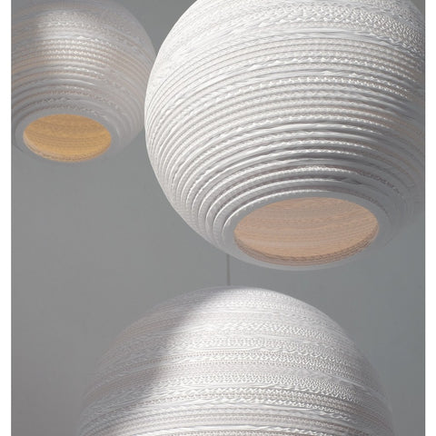 "Graypants Scraplight Moon 18 Pendant Light | White 18.0"" Diameter GP-1163-UL"