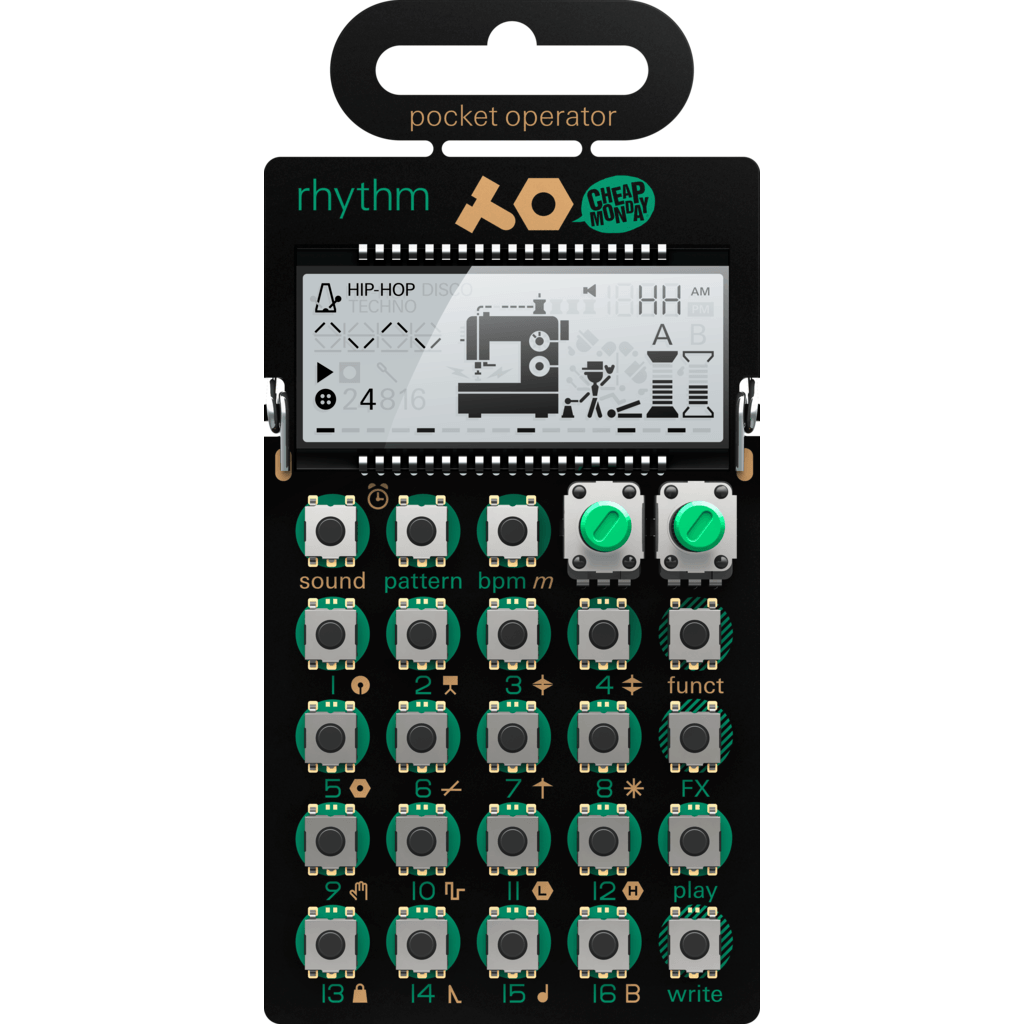 Teenage Engineering Rhythm Pocket Synthesizer | Green PO-12 010 AS 012A