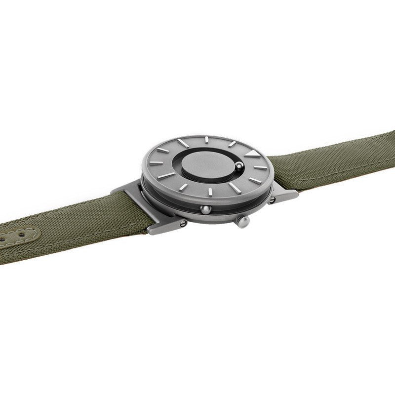 Eone Bradley Watch Classic | Green Canvas & Leather
