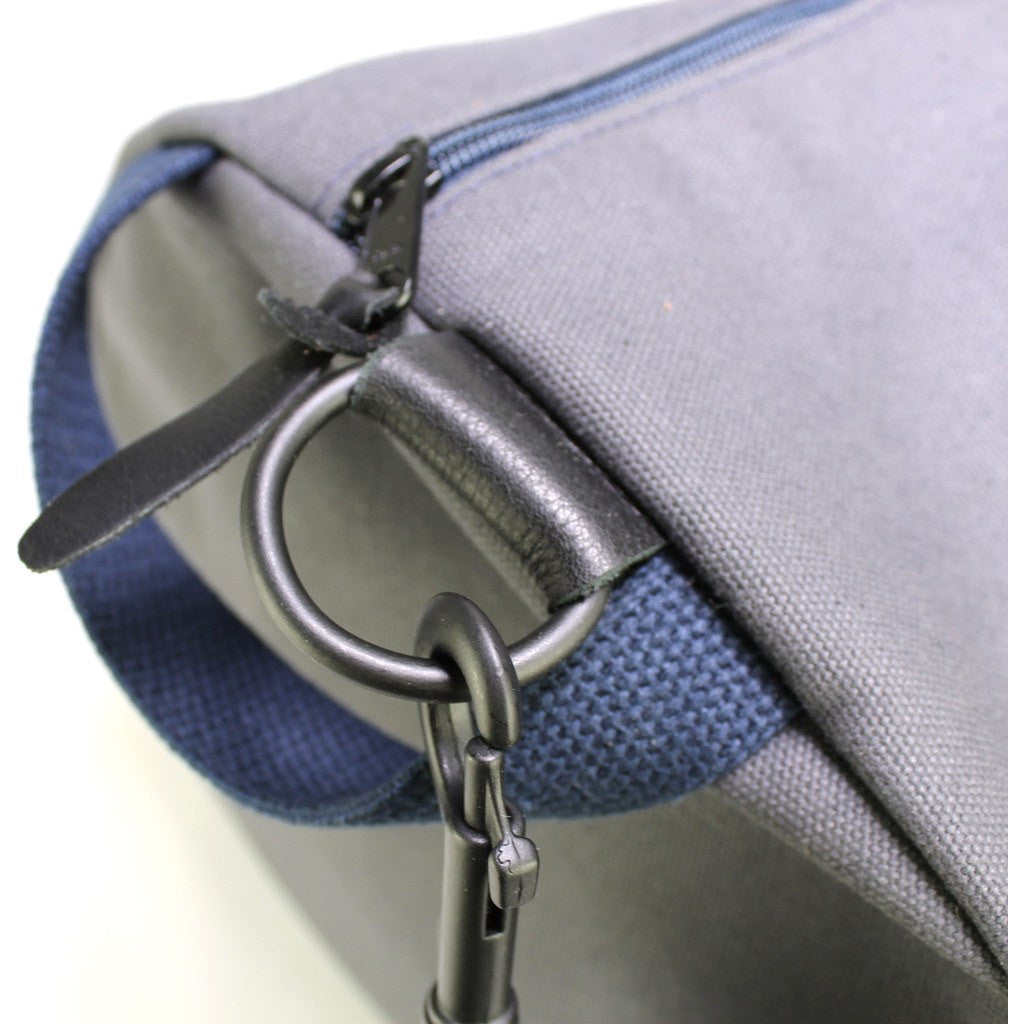 Owen & Fred Work Hard, Play Hard Duffel Bag | Grey/Navy