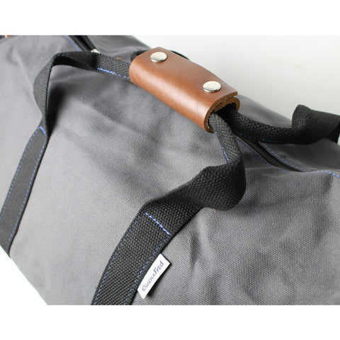 Owen & Fred Work Hard, Play Hard Duffel Bag | Grey