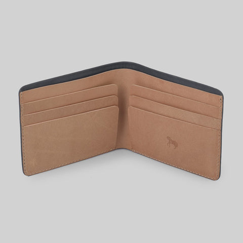 The Horse Men's Bi-fold Wallet | Grey/Tan STO123 -L15
