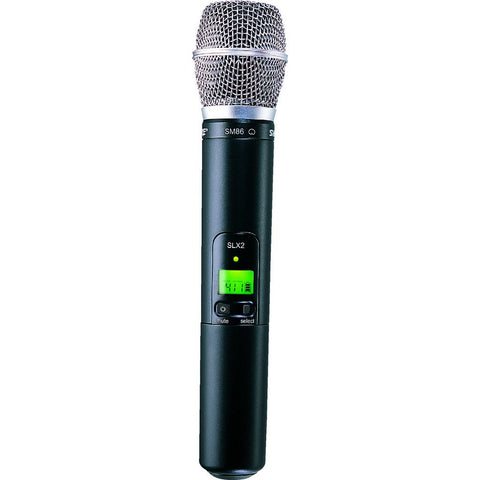 Shure SLX2/SM86 Handheld Transmitter with SM86 Microphone | Black