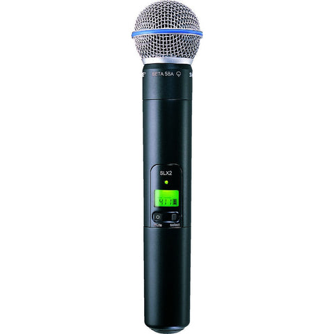 Shure SLX2/BETA58 Handheld Transmitter with BETA58 Microphone | Black