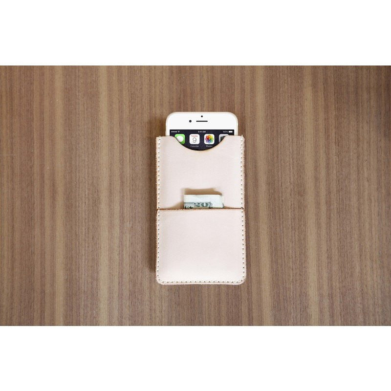 DODOcase Veg Tan Slim iPhone 6 Wallet | Natural