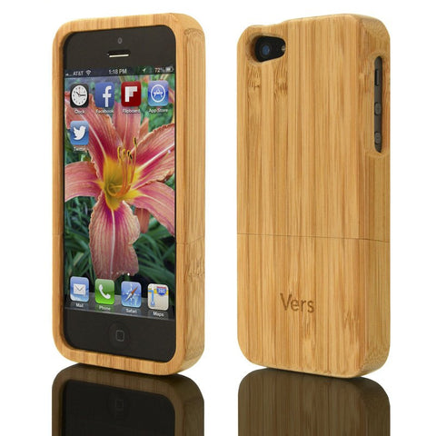 Vers Audio Solid Wood Case for iPhone 5/5s | Bamboo