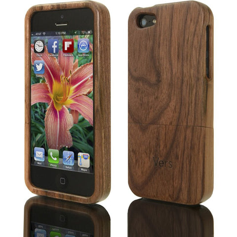 Vers Audio Solid Wood Case for iPhone 5/5s | Walnut