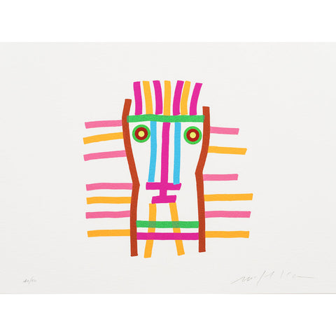 Danese Milano I Volti, Uno Signed by Mimmo Paladino Print | The One Face