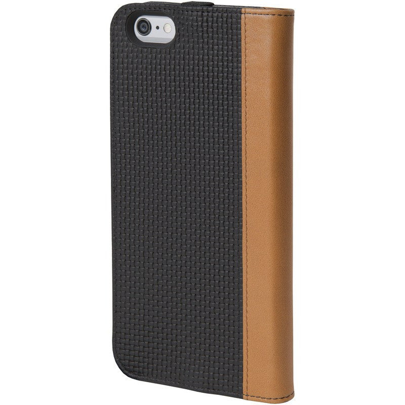 Hex Icon Wallet for iPhone 6 Plus | Black Woven Leather