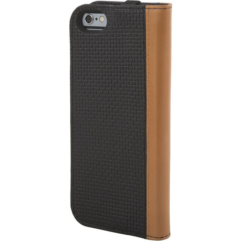 Hex Icon Wallet for iPhone 6 Black Woven Leather | HX1750 BKWV