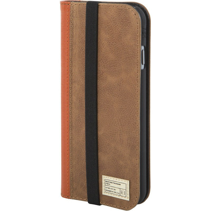 Hex Icon Wallet for iPhone 6 Distressed Brown Leather | HX1750 BRWN