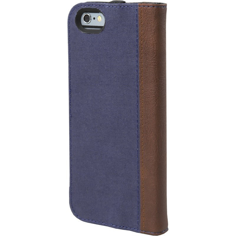 Hex Icon Wallet for iPhone 6 | Blue Woven Leather