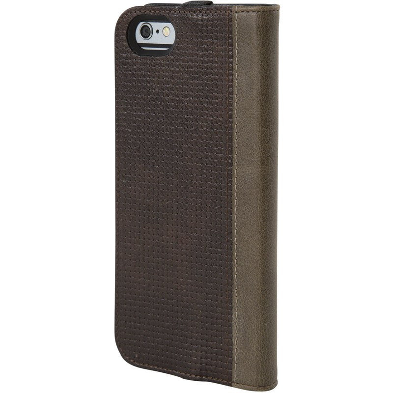 Hex Icon Wallet for iPhone 6 | Brown Woven