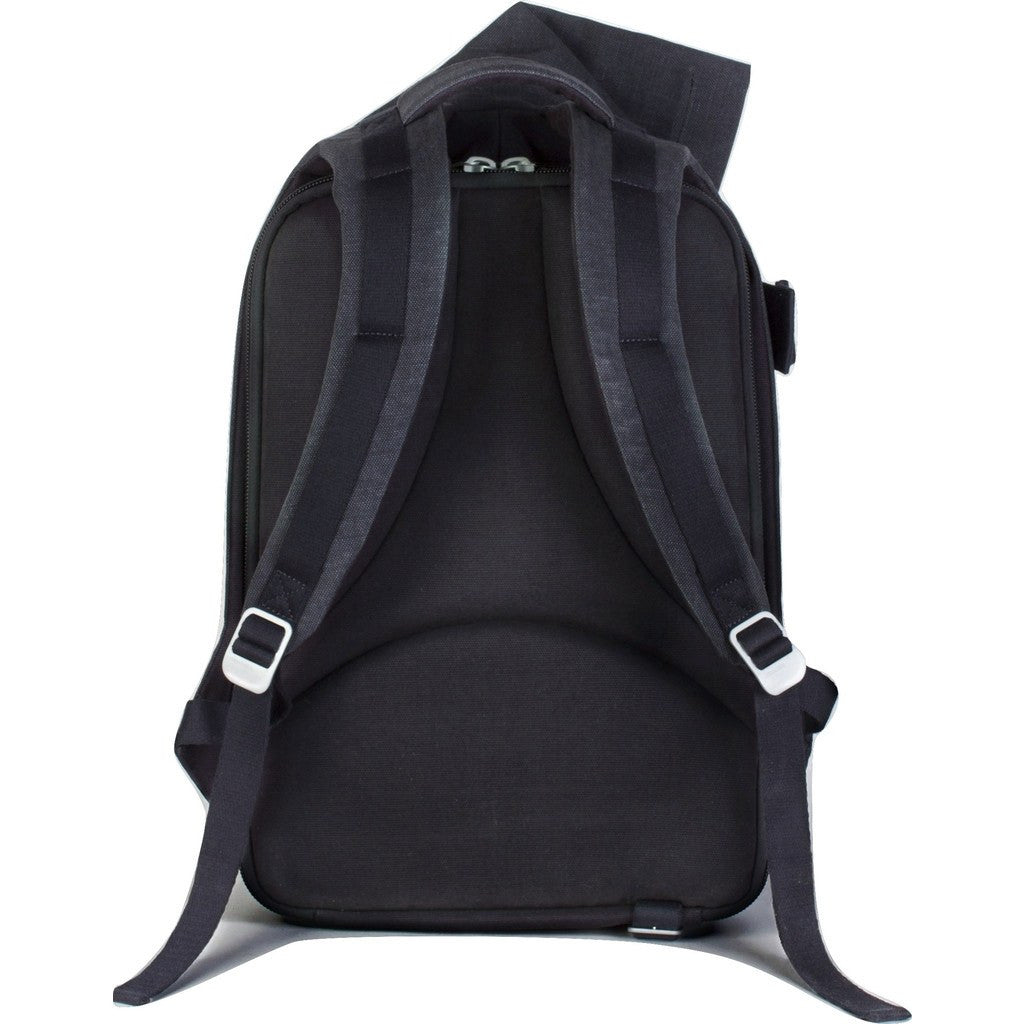 Cote et Ciel Isar Large Raw Canvas Backpack | Anthracite Blue