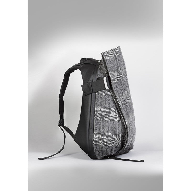 Cote et Ciel Isar Herringbone Weave Backpack | Concrete Herringbone