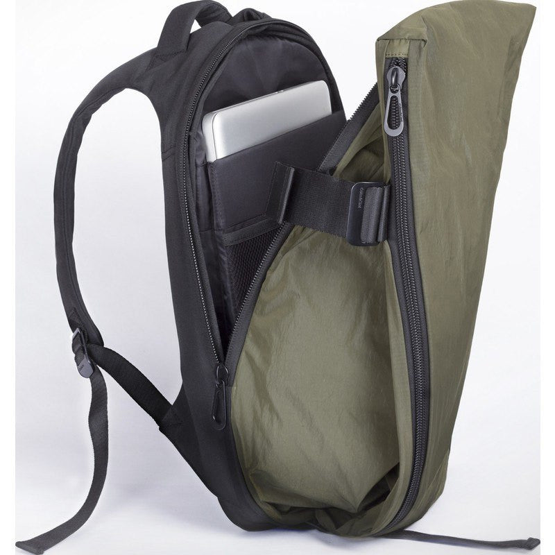 Cote et Ciel Isar Memory Tech Laptop Backpack | Olive Green 28340